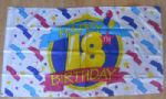 Happy 18th Birthday Large Flag - 5' x 3'.